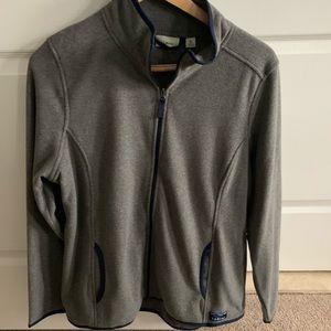 NWT LL Bean Fitness Fleece Gray Zip Front Jacket
